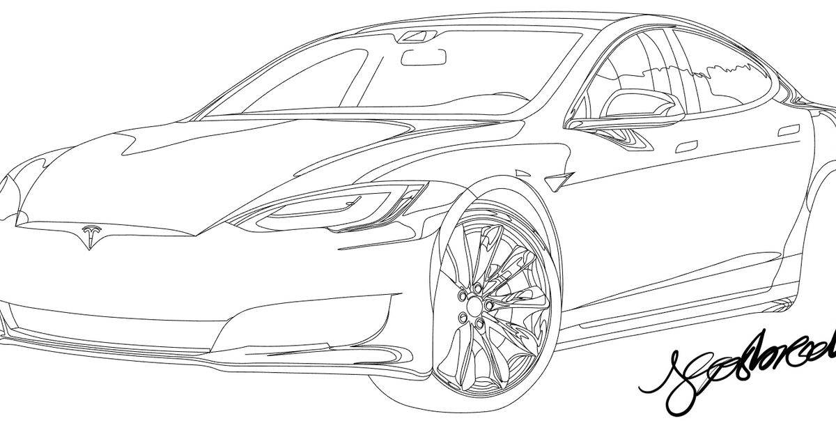tesla model x coloring page colouring page tesla model x coloringpageca tesla coloring page model x