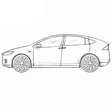 tesla model x coloring page how to draw a sports car for kids bugatti veyron cars coloring page model x tesla
