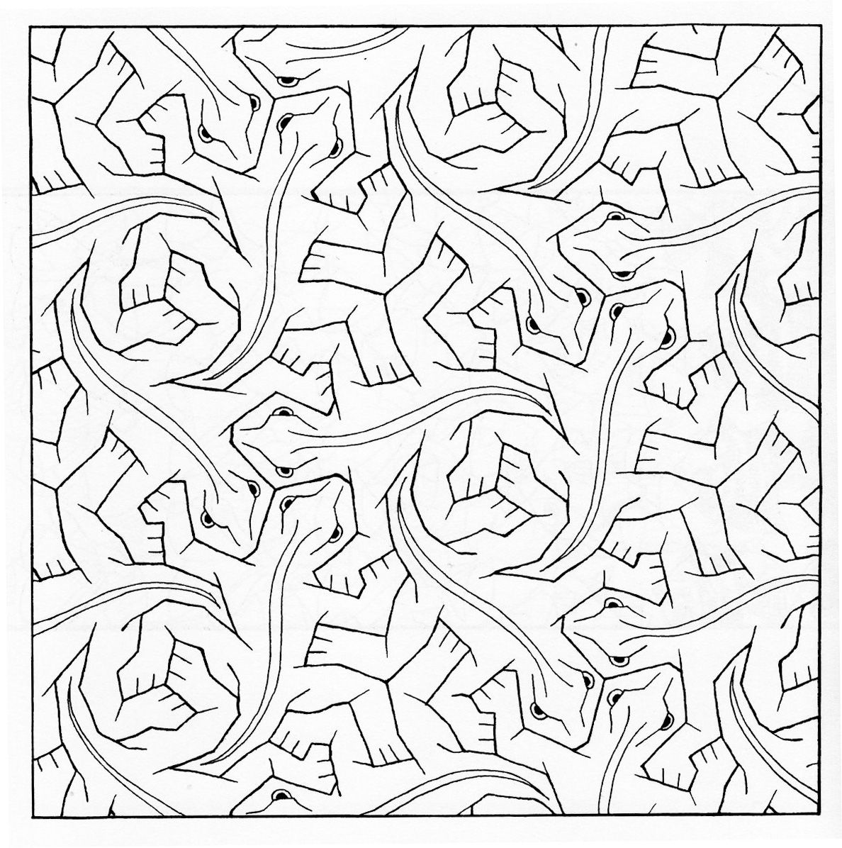tessellation coloring pages free printable escher fish tessellations templates sketch coloring page printable free tessellation coloring pages