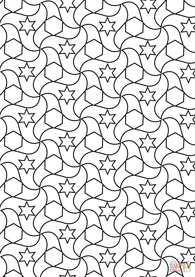 tessellation coloring pages free printable get this free tessellation coloring pages adult printable coloring tessellation free pages printable