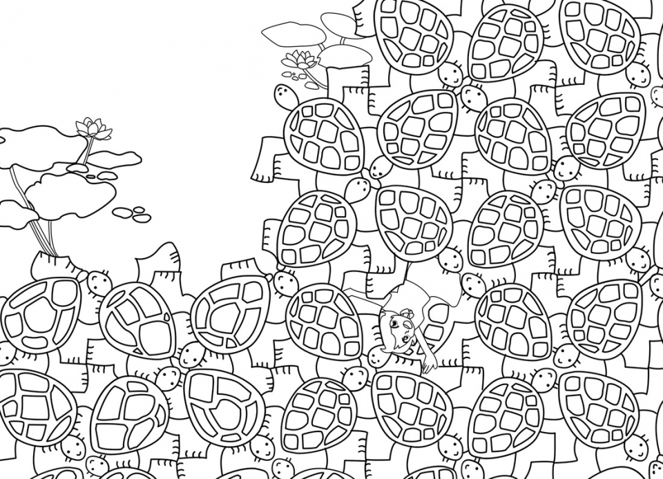 tessellation coloring pages free printable get this free tessellation coloring pages adult printable pages coloring free printable tessellation