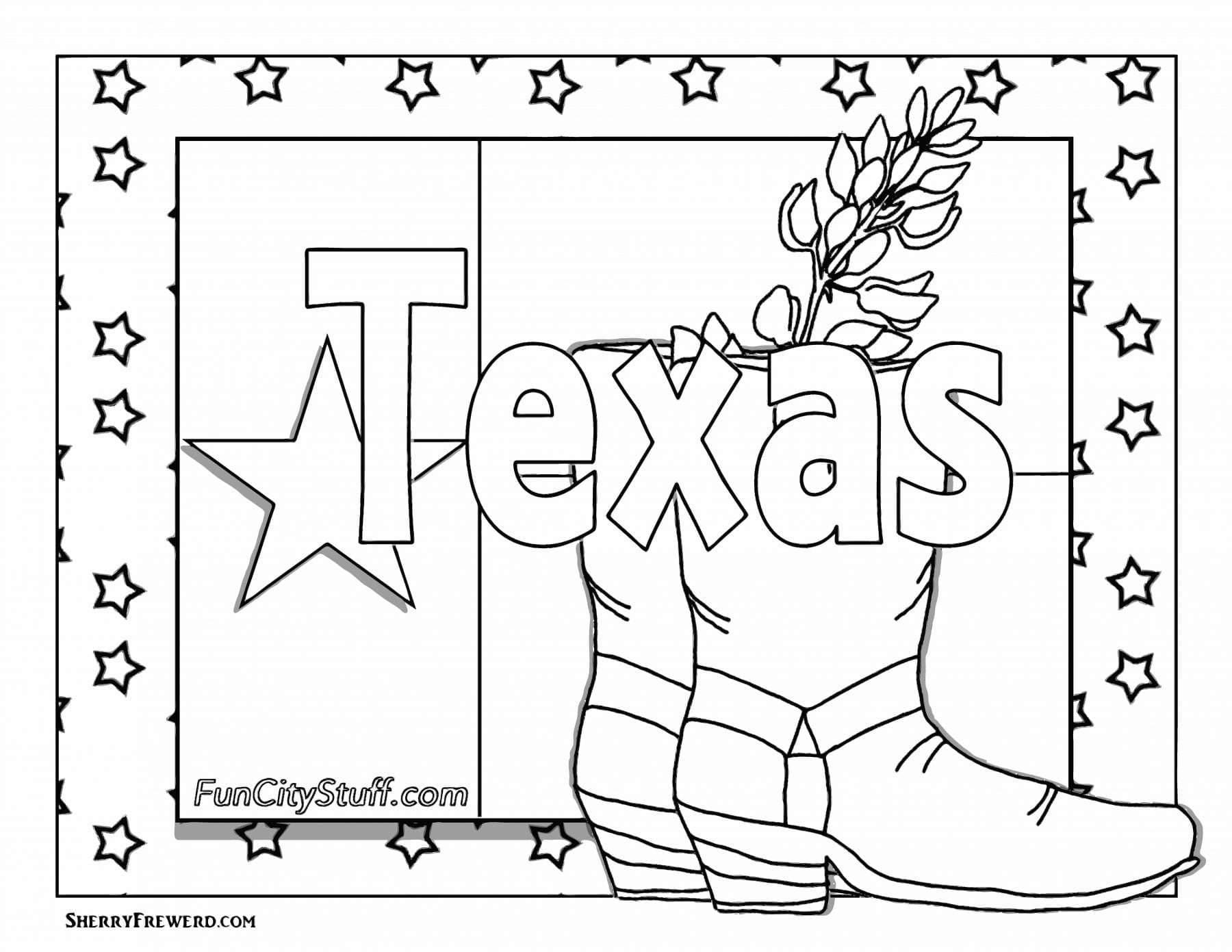 texas coloring pages color your cares away texas style funcity stuff dfw texas coloring pages