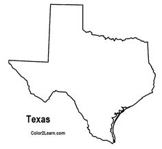 texas coloring pages printable shape of texas from printabletreatscom shapes pages coloring texas