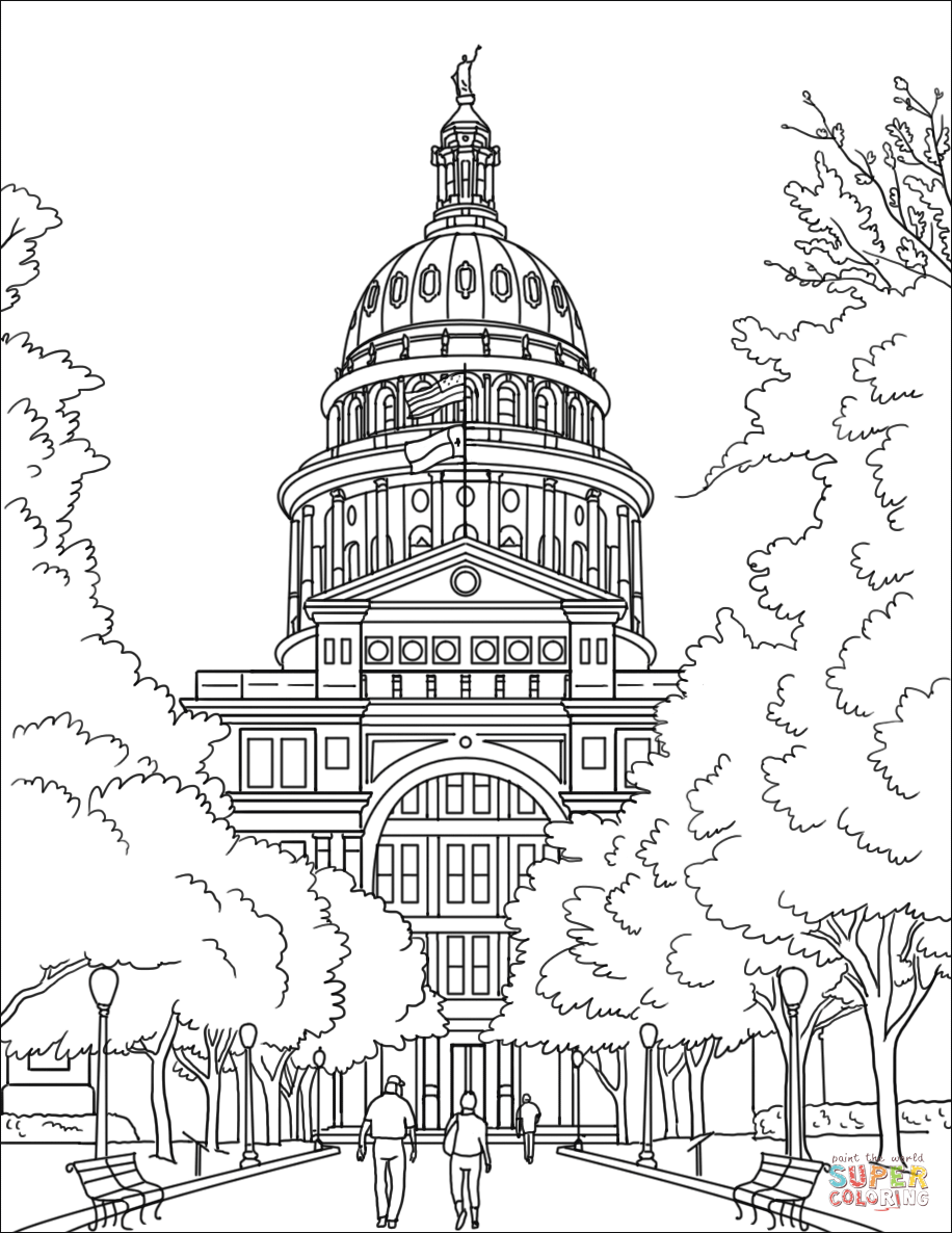 texas coloring pages texas state capital coloring page free printable coloring texas pages