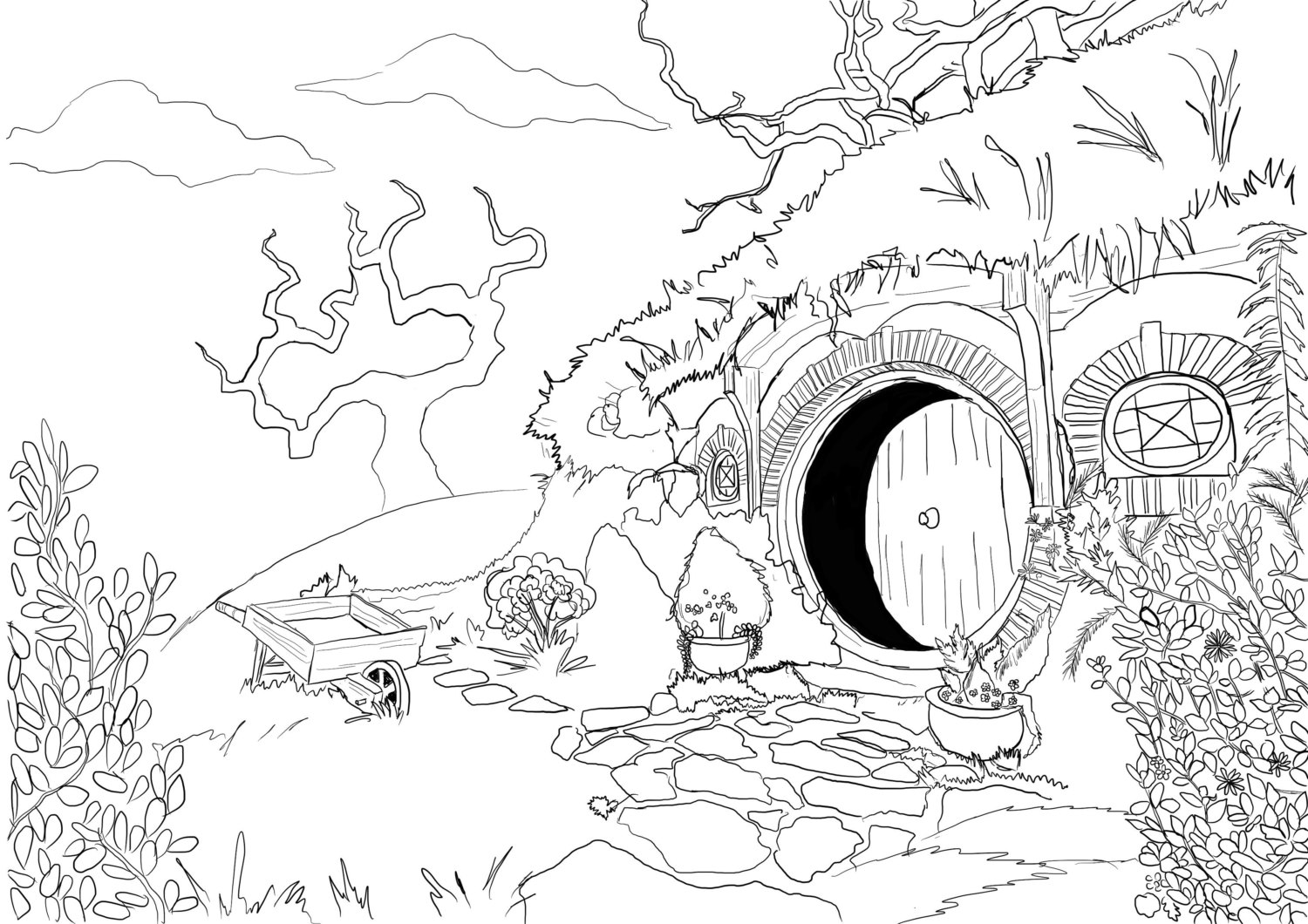 the hobbit colouring pages year 2941 the hobbit october 22 bilbo and the dwarves the pages hobbit colouring