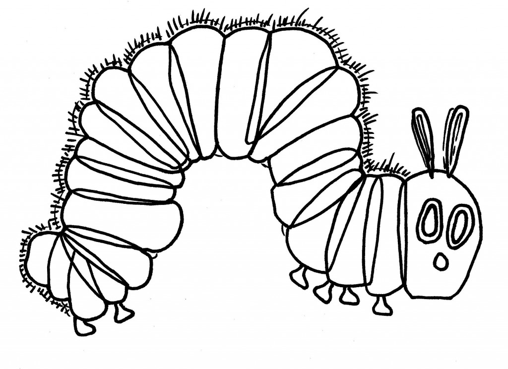 The hungry caterpillar coloring page