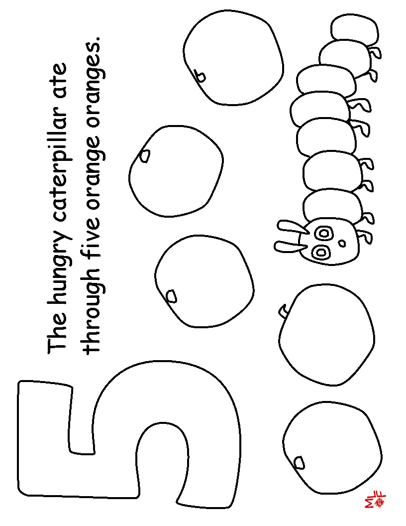 the hungry caterpillar coloring page get this the very hungry caterpillar coloring pages free caterpillar the coloring page hungry