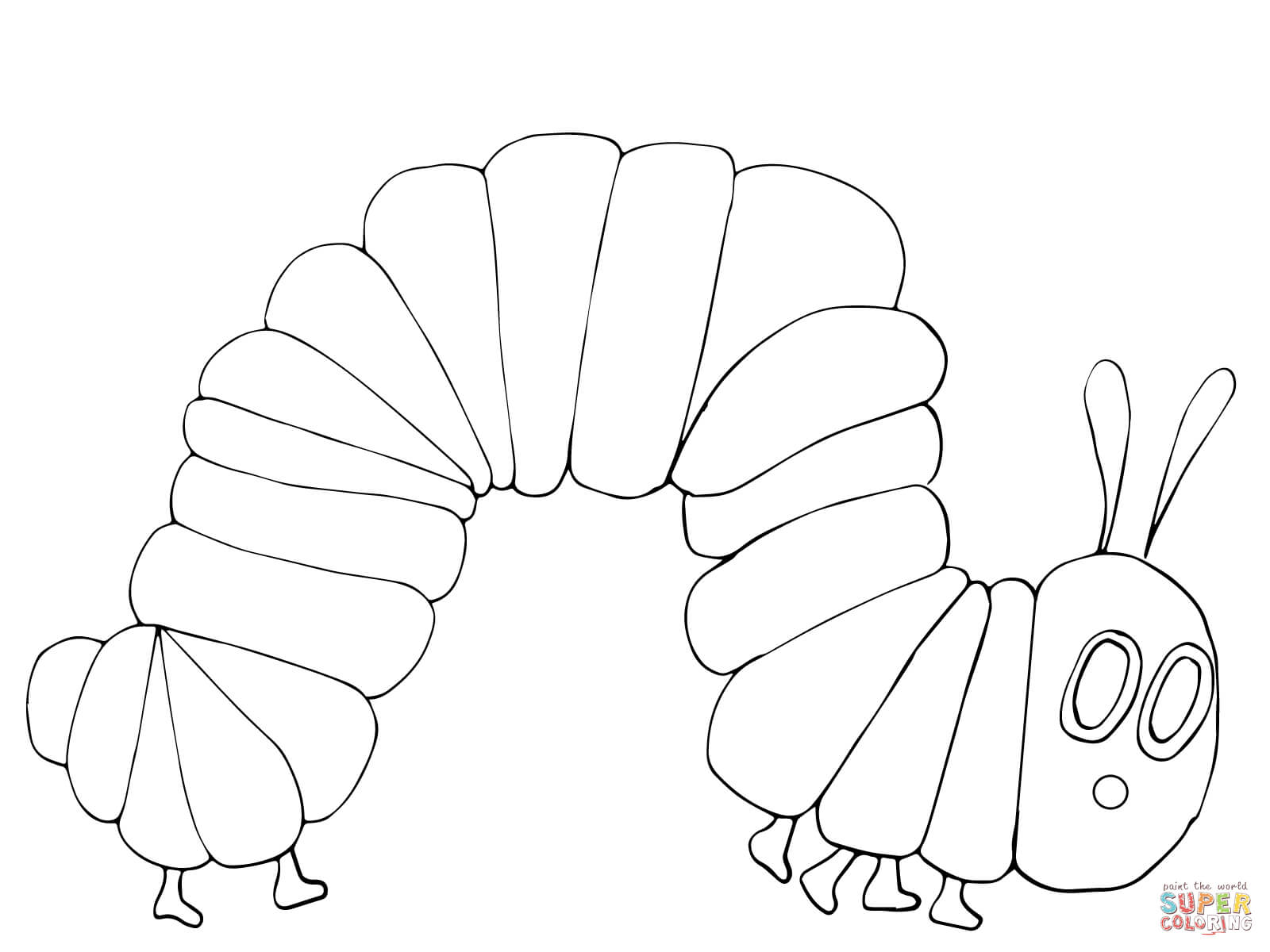 the hungry caterpillar coloring page get this the very hungry caterpillar coloring pages free hungry caterpillar the page coloring