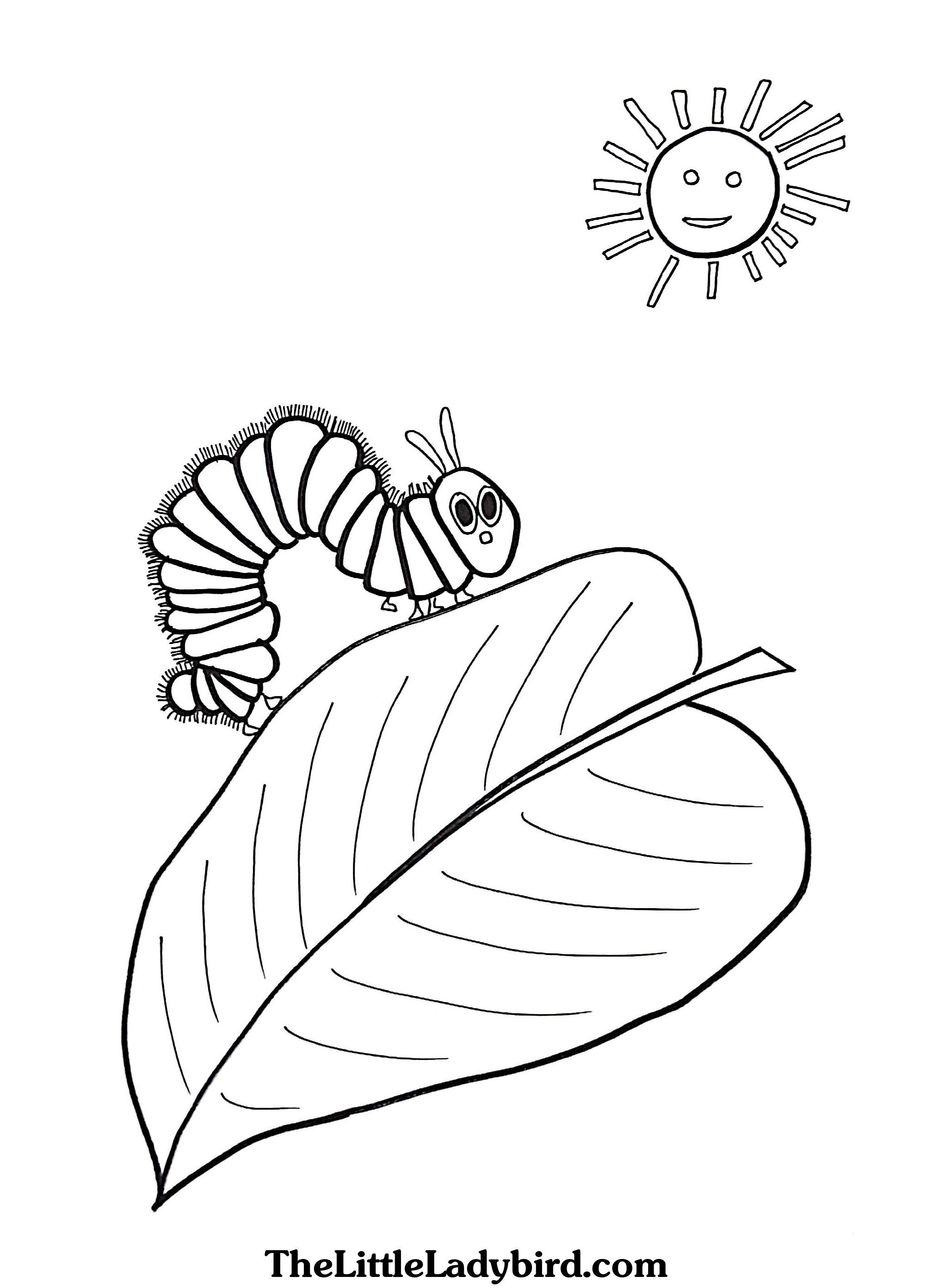 the hungry caterpillar coloring page get this the very hungry caterpillar coloring pages free the page coloring hungry caterpillar