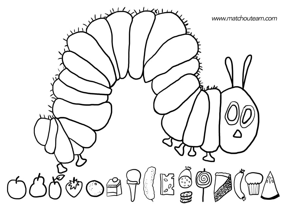 the hungry caterpillar coloring page very hungry caterpillar free printable coloring page for hungry page caterpillar the coloring