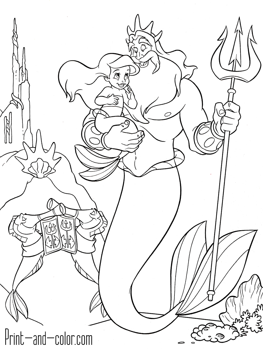 the little mermaid coloring page ariel the little mermaid coloring pages for girls to print the little page coloring mermaid