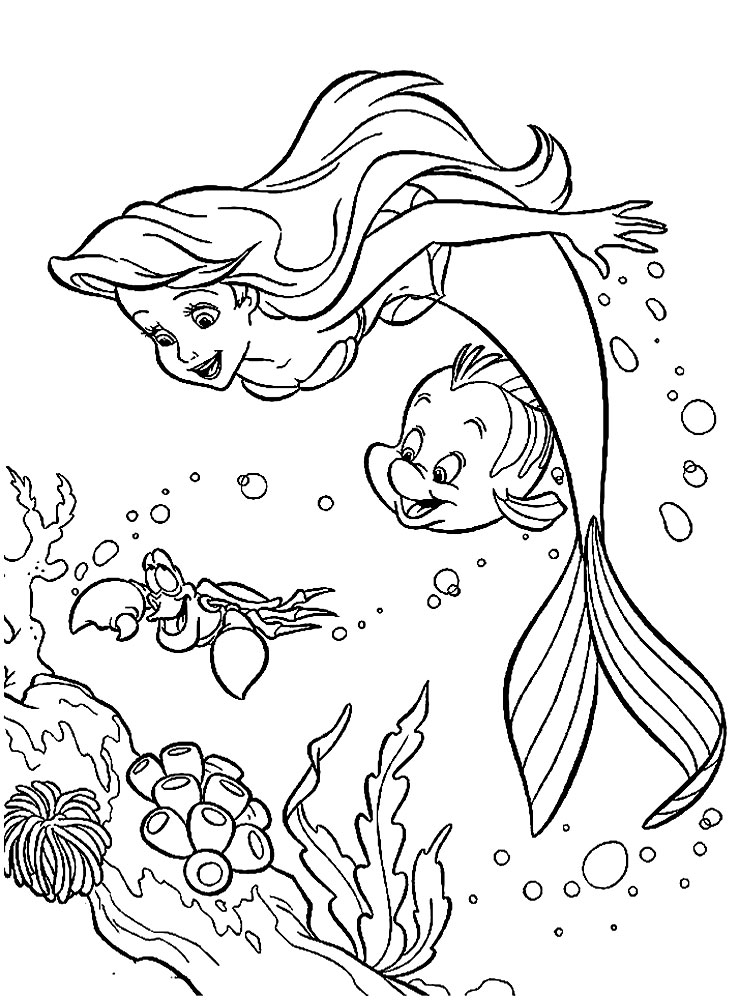 the little mermaid coloring page print download find the suitable little mermaid the little coloring mermaid page