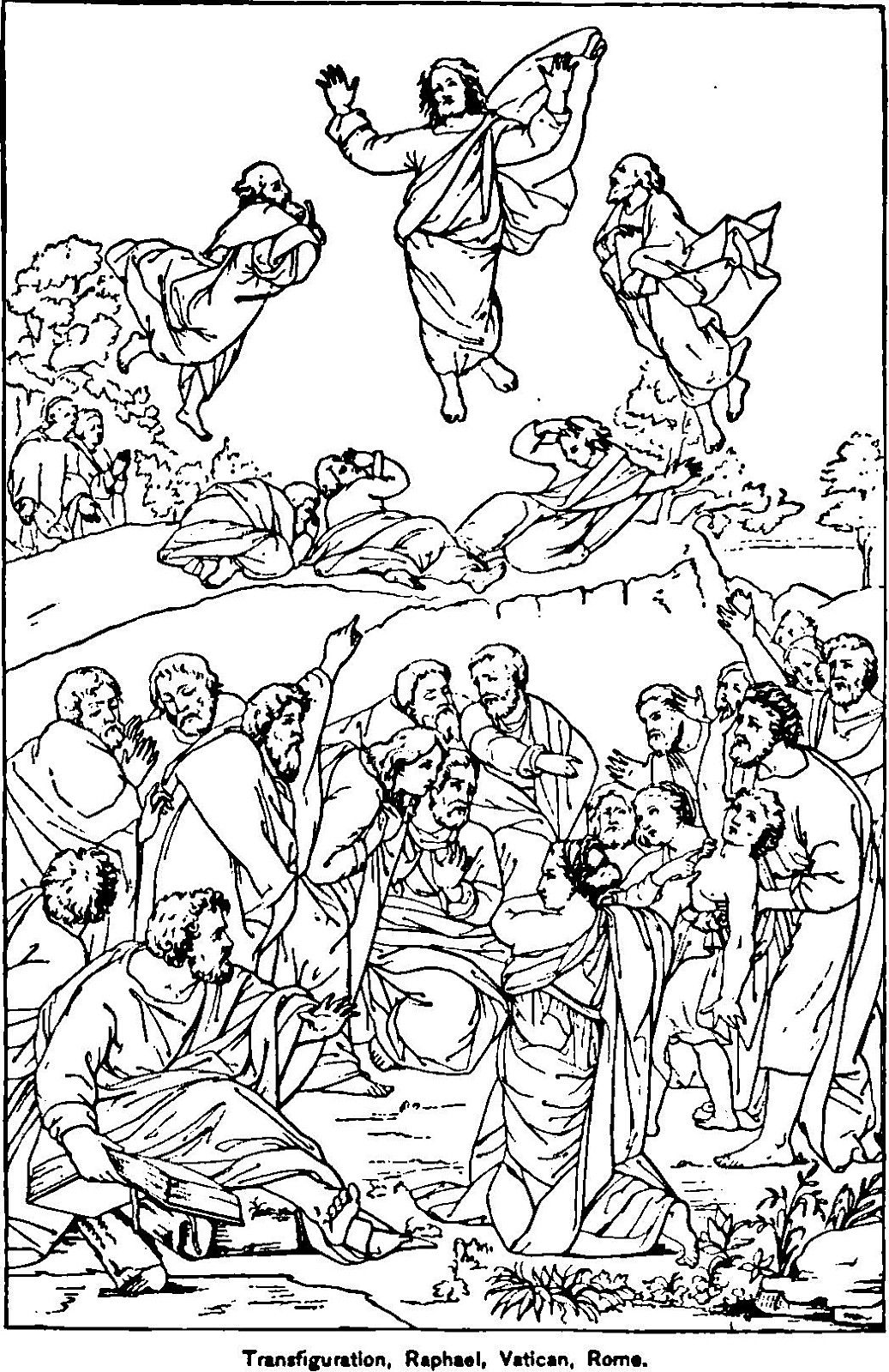 the transfiguration of jesus coloring page jesus transfiguration coloring page coloring home the jesus of transfiguration page coloring
