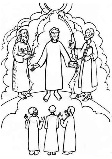 the transfiguration of jesus coloring page jesus transfiguration coloring pages free printable pdfs coloring of the jesus transfiguration page