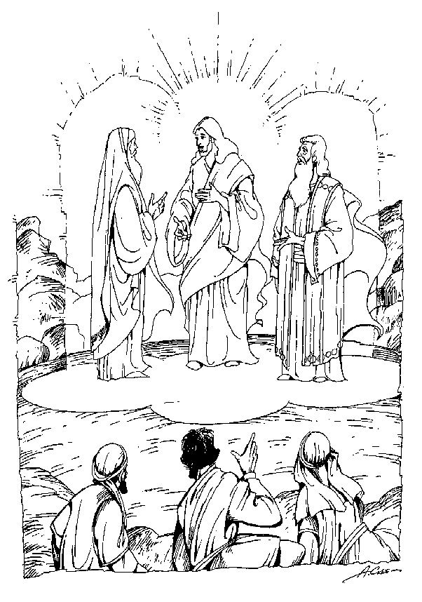 the transfiguration of jesus coloring page mount of transfiguration coloring page with images page of coloring jesus the transfiguration