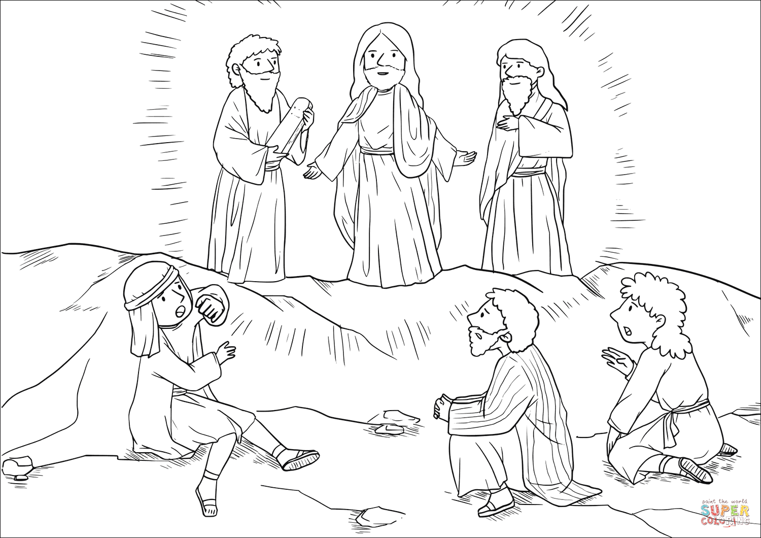 the transfiguration of jesus coloring page the river of life transfiguration coloring page transfiguration coloring jesus the of