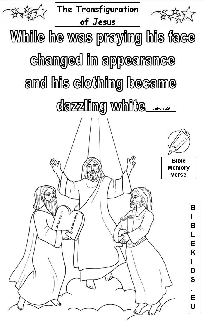 the transfiguration of jesus coloring page the transfiguration catholic coloring page catholic page coloring of jesus transfiguration the