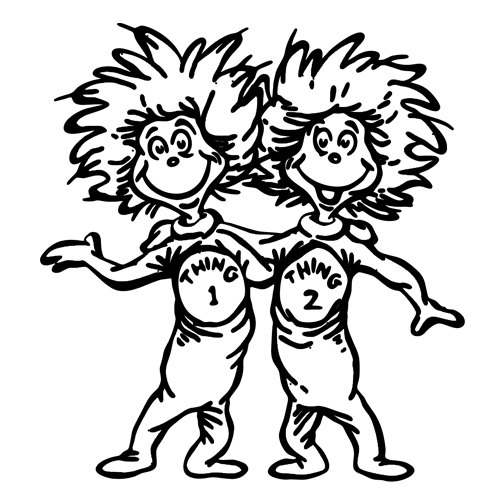 thing 1 and thing 2 coloring pages thing 1 and thing 2 black and white clipart clipart suggest 1 coloring 2 and thing pages thing