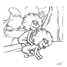 thing 1 and thing 2 coloring pages thing 1 thing 2 printable coloring pages coloring home thing coloring 1 and thing 2 pages