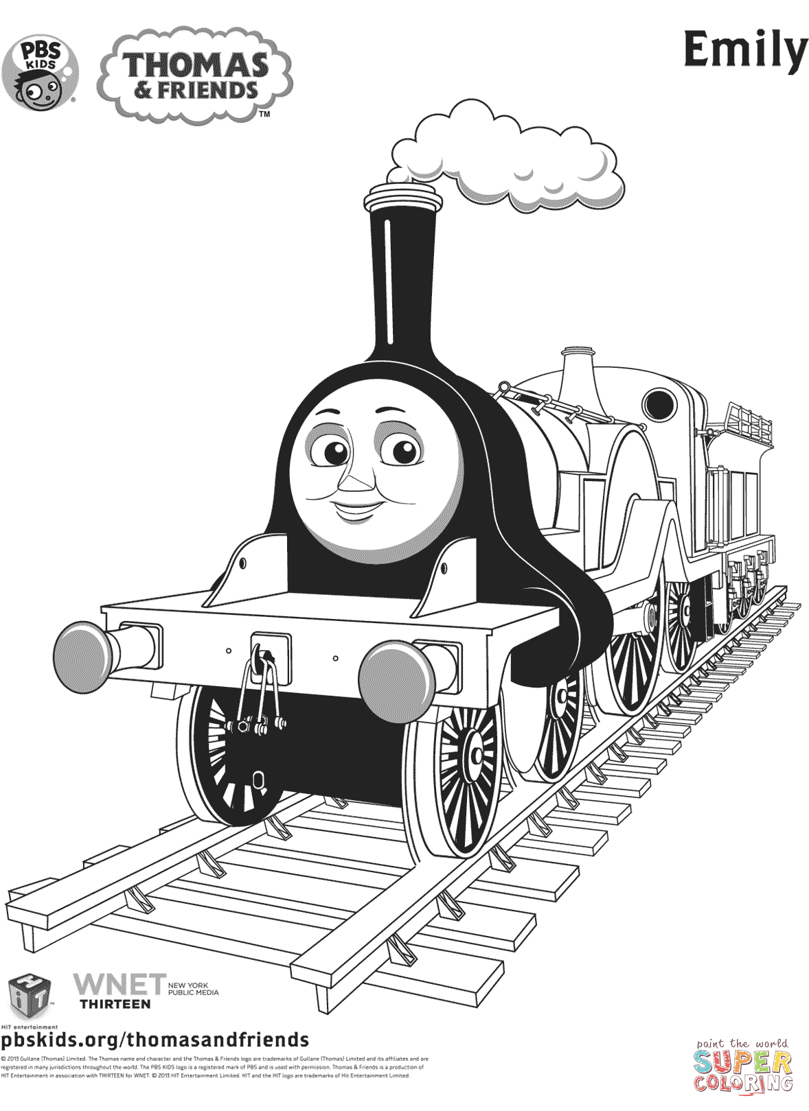 thomas and friends drawing pages emily from thomas friends coloring page free printable drawing pages friends thomas and