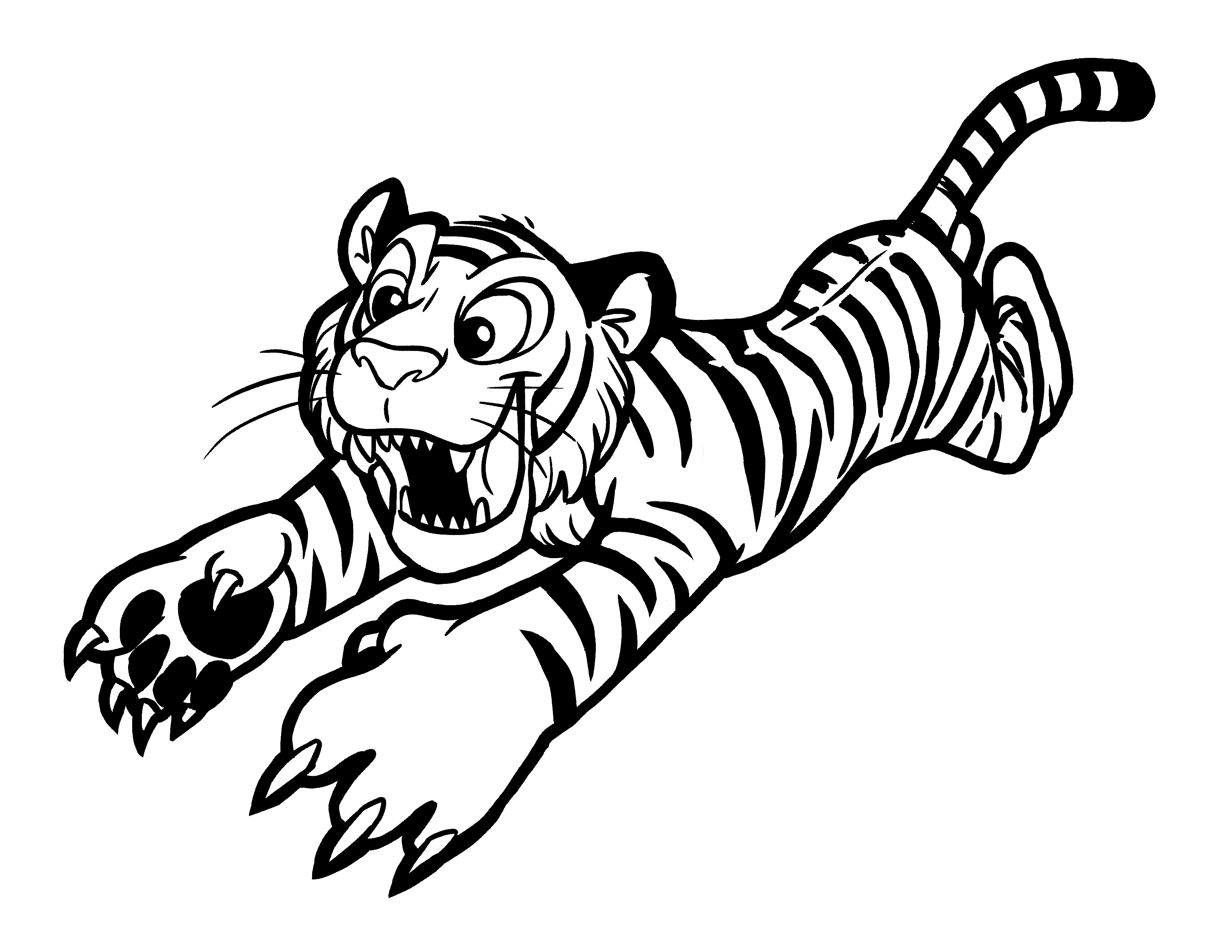Tiger images for colouring