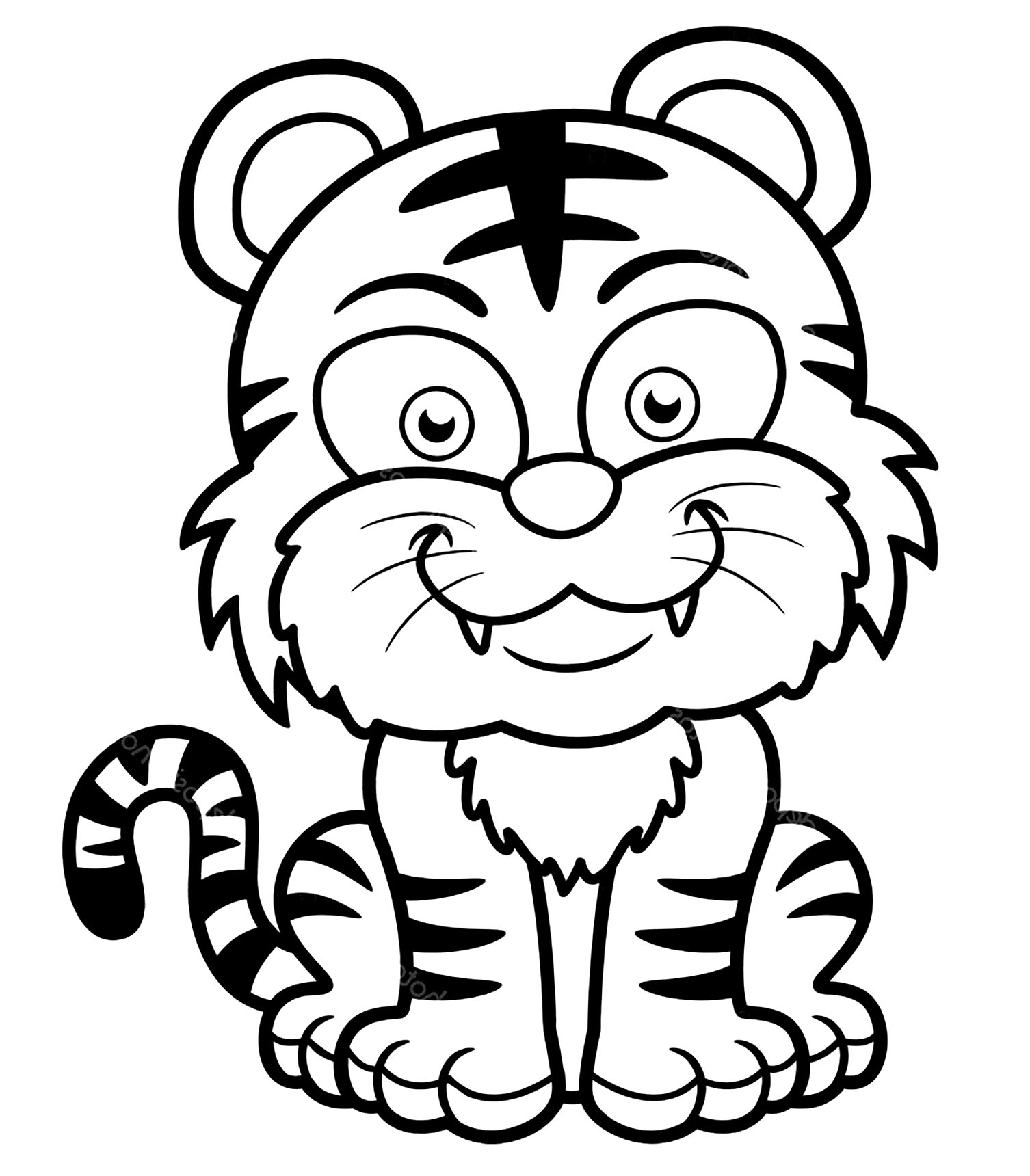 tiger images for colouring wild animals coloring pages pitara kids network tiger colouring images for