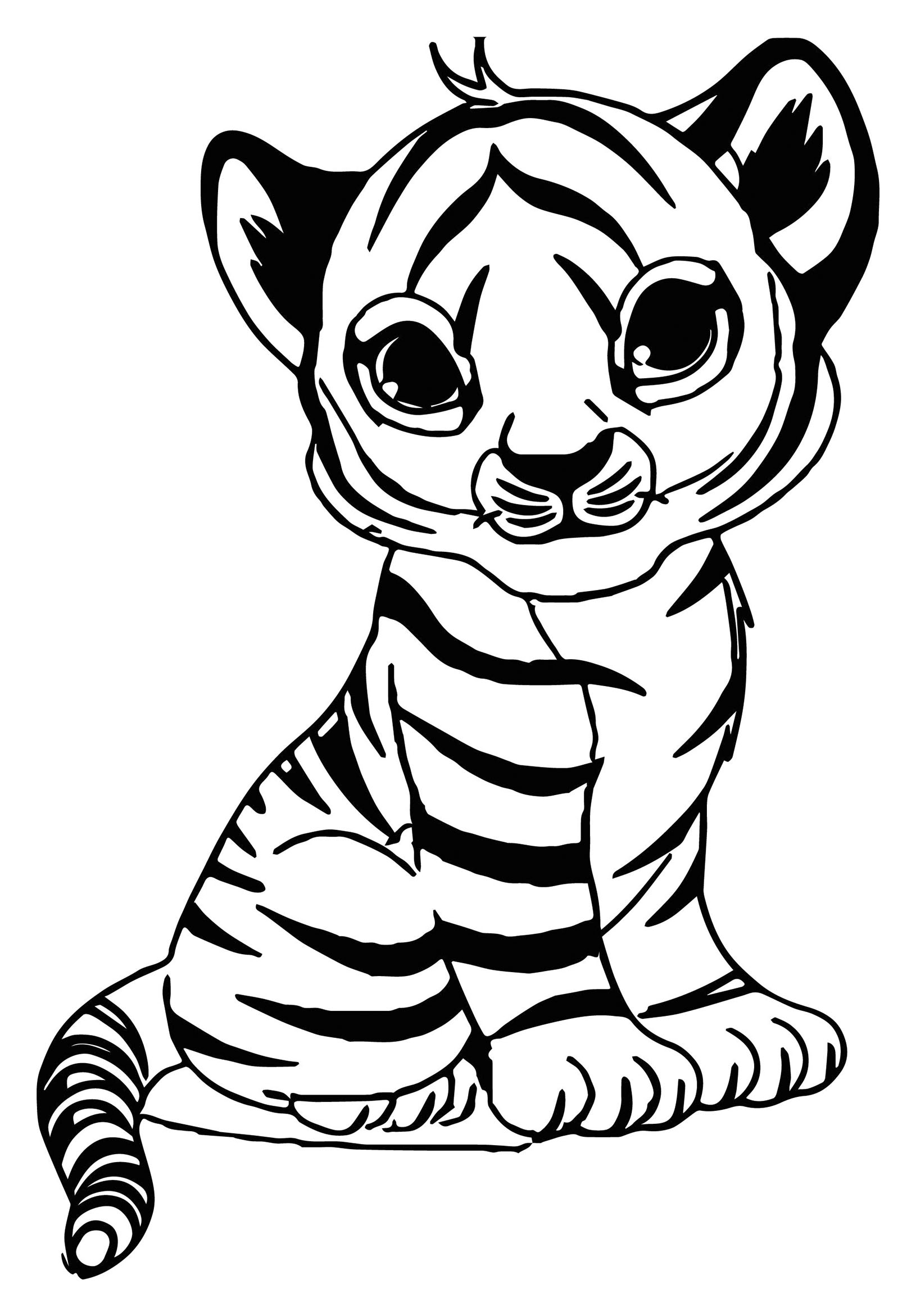 Tiger pictures to colour