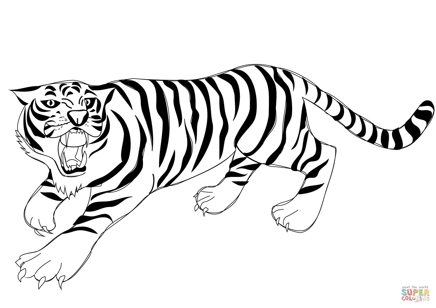 tiger printable coloring pages a loud roaring of bengal tiger coloring page download tiger pages coloring printable