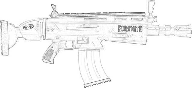 toy gun coloring pages coloring pages nerf fortnite blasters coloring pages free pages gun coloring toy