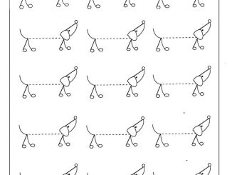 traceable dog pictures animal worksheet preschoolplanet dog traceable pictures