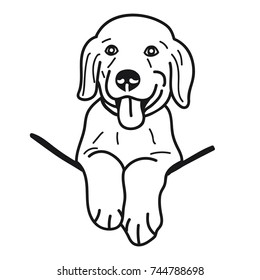 traceable dog pictures cartoon golden retriever images stock photos vectors pictures traceable dog