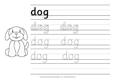 traceable dog pictures dog handwriting worksheet traceable pictures dog