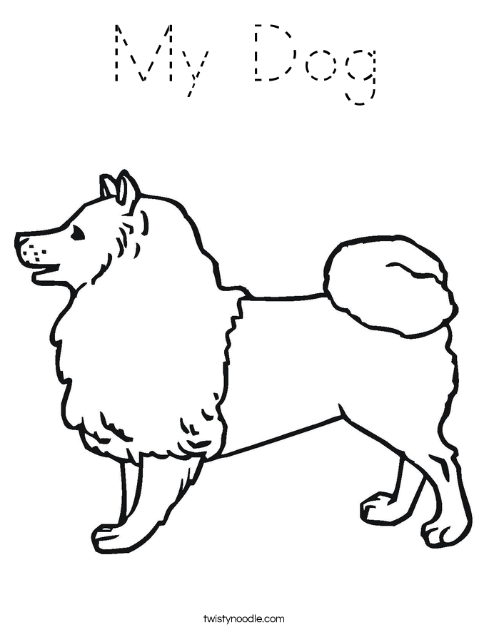 traceable dog pictures my dog coloring page  tracing  twisty noodle traceable dog pictures
