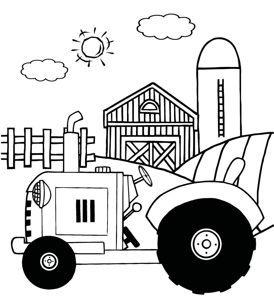 tractor pictures to color cartoon tractor coloring pages free printable coloring pages tractor pictures to color