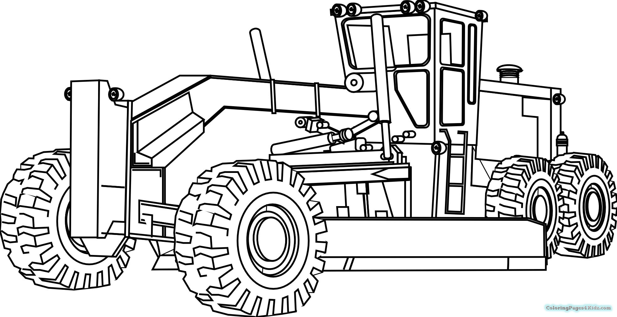 Tractor pictures to color