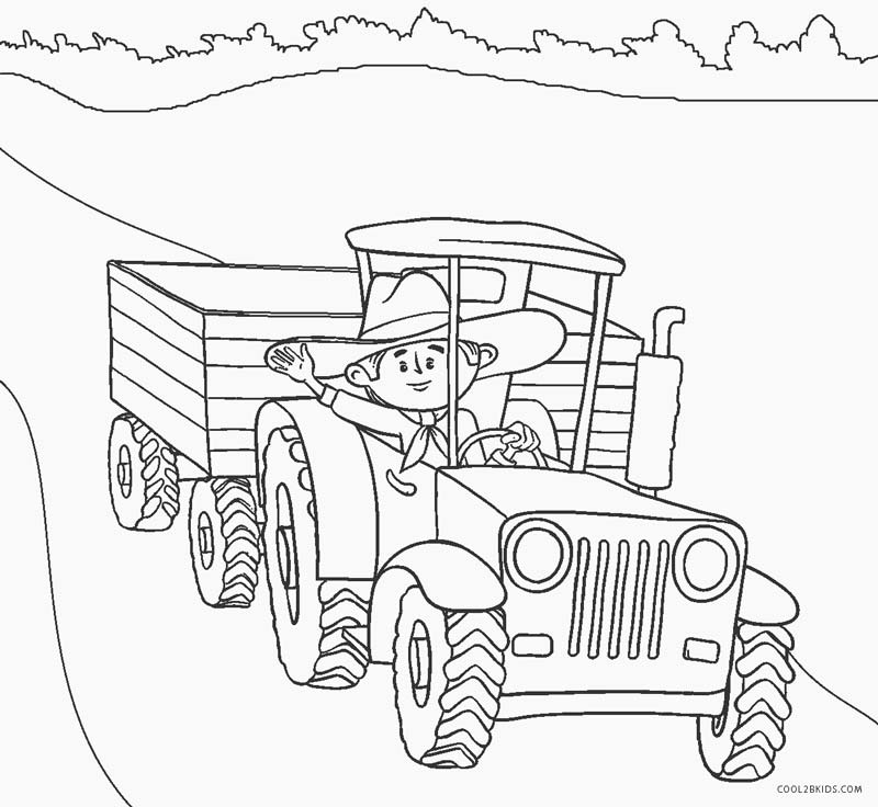 tractor pictures to color old tractor coloring pages free printable coloring pages color to tractor pictures