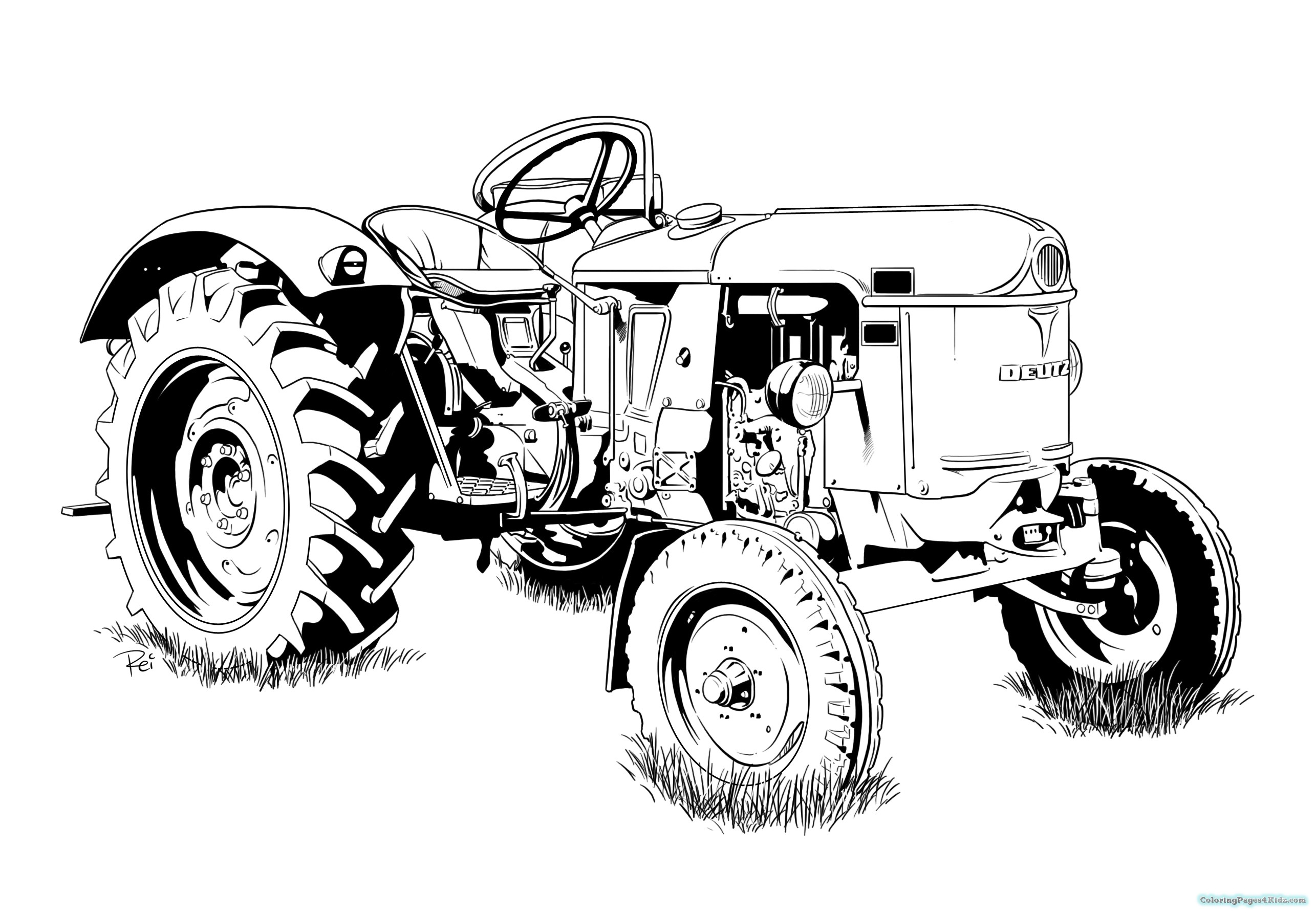 tractor pictures to colour in kids tractor a coloring pages coloring pages for kids pictures tractor in colour to