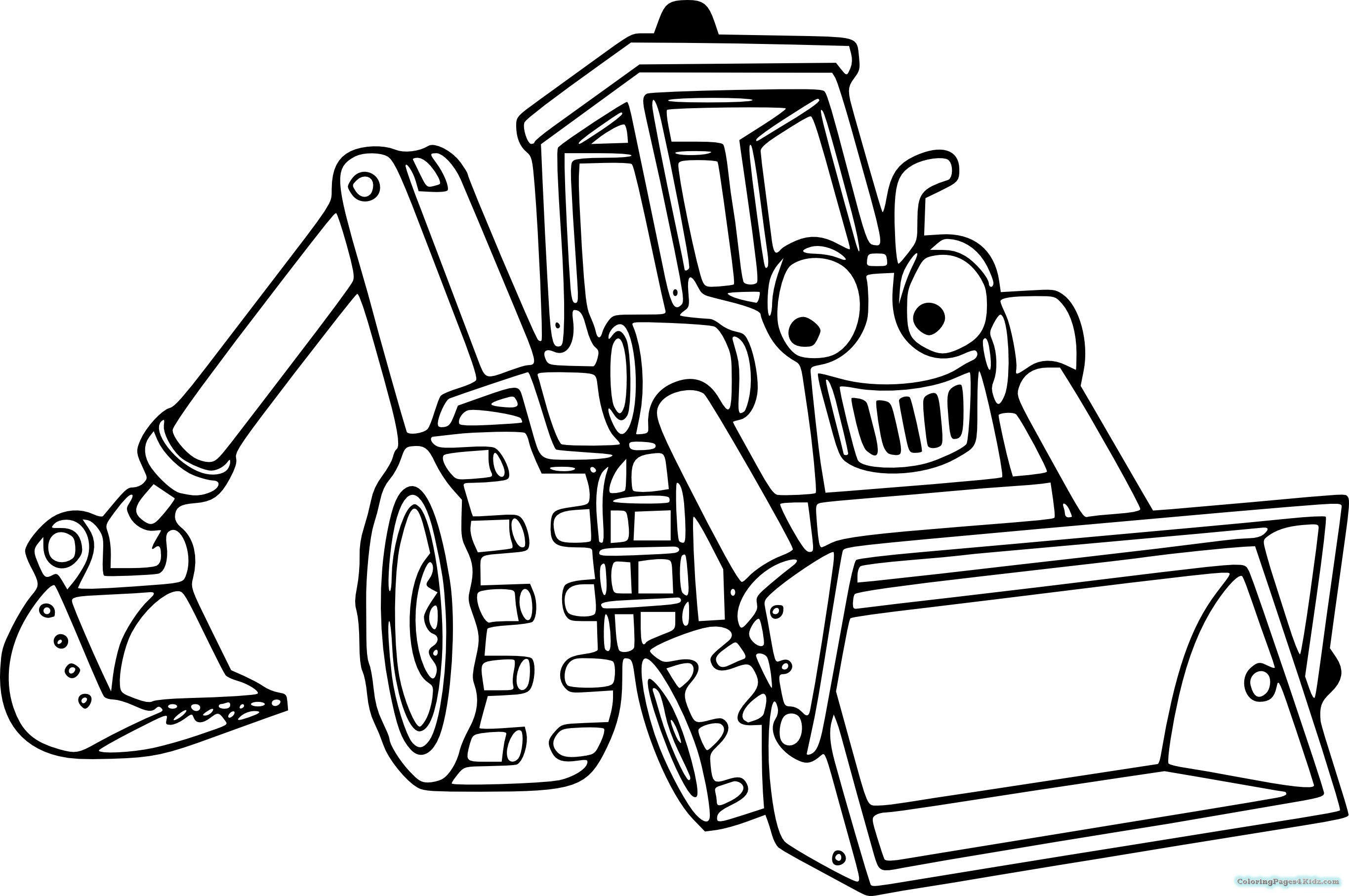 Tractor pictures to colour in