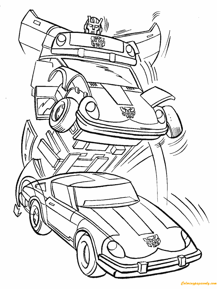 transformer car coloring pages chevrolet camaro transformers cars coloring page 2 car pages transformer coloring