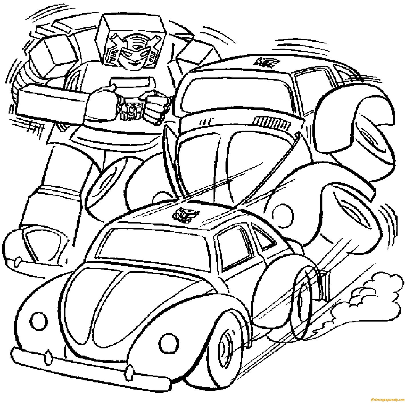 Transformer car coloring pages