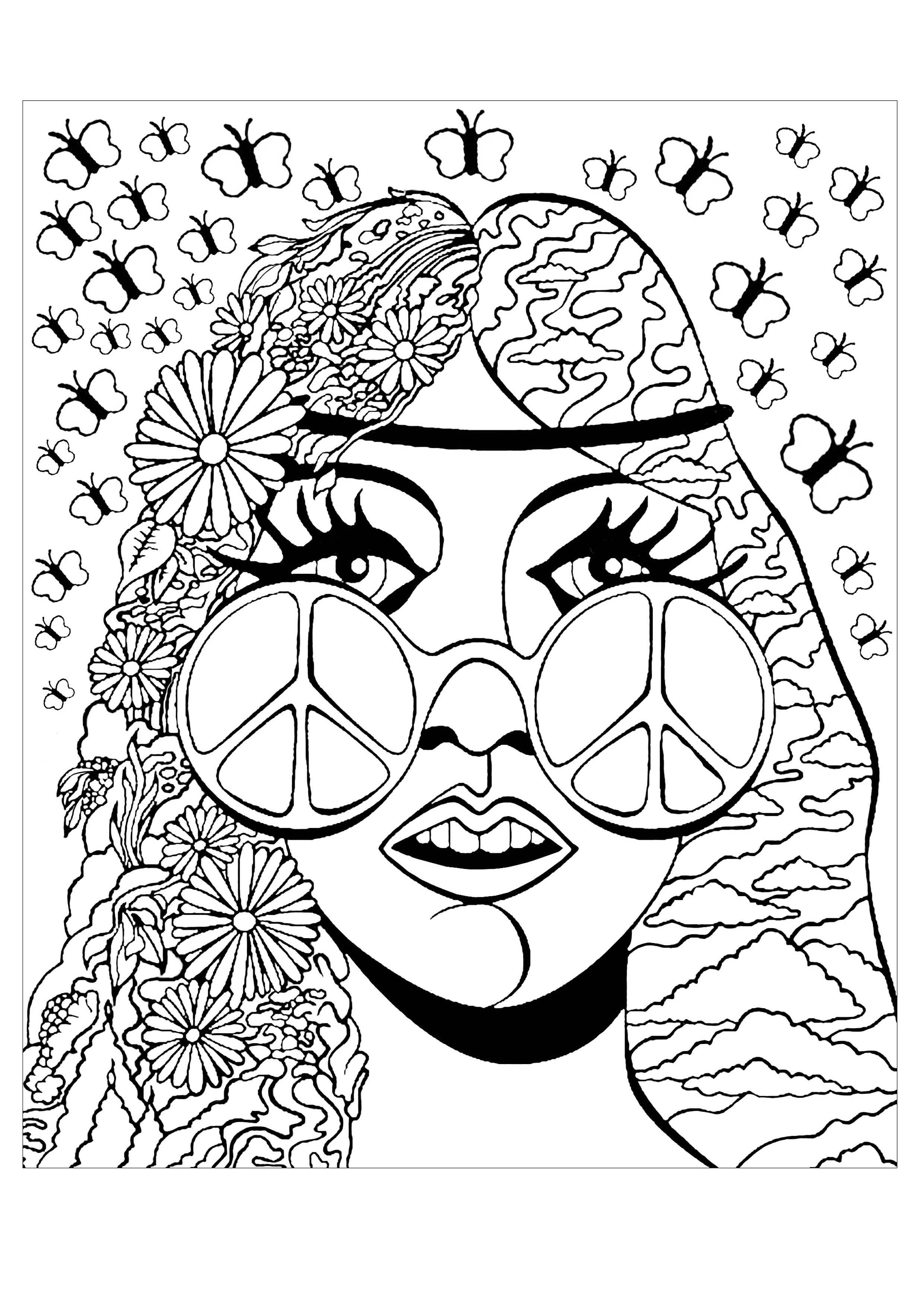 trippy color pages get this cool trippy coloring pages for grown ups pld72 color pages trippy