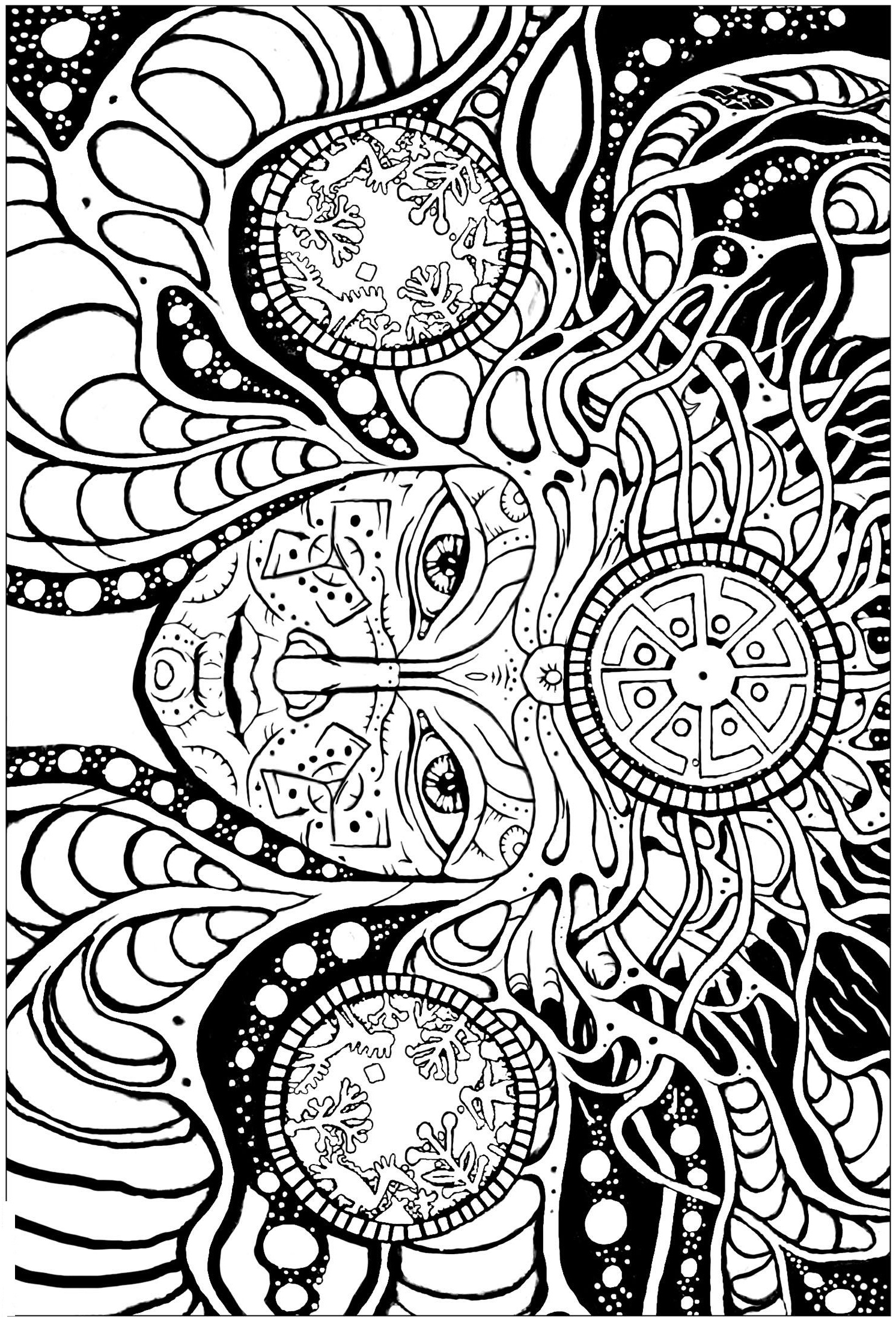 trippy color pages psychedelic coloring pages to download and print for free pages trippy color