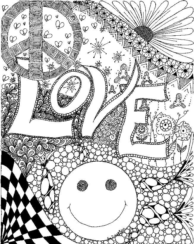 trippy color pages psychedelic ornaments coloring page free printable trippy pages color