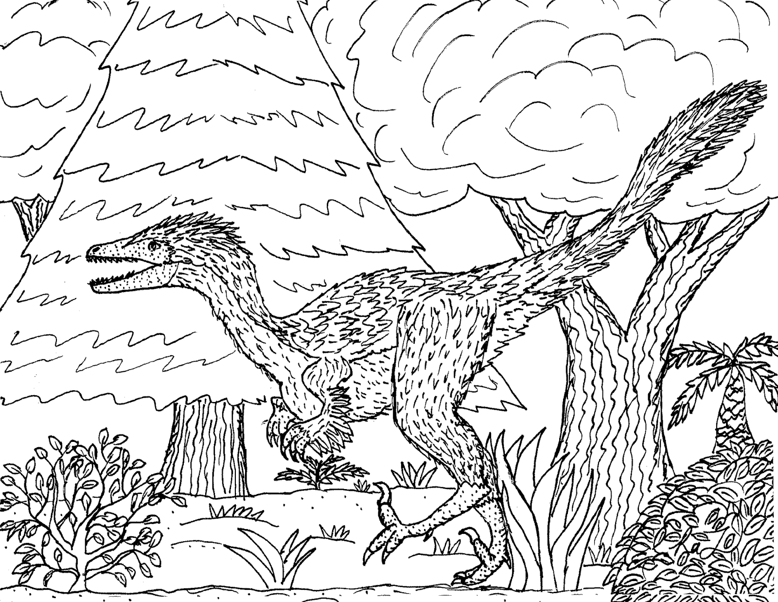 troodon coloring page learn how to draw a troodon dinosaurs step by step troodon coloring page