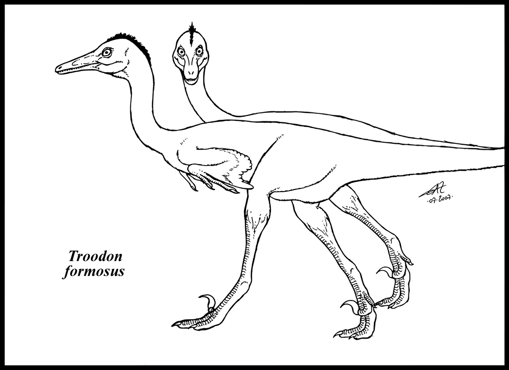 troodon coloring page troodon formosus by zakafreakarama on deviantart troodon coloring page