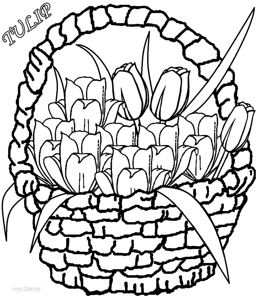 tulip colouring free printable tulip coloring pages for kids colouring tulip 1 2
