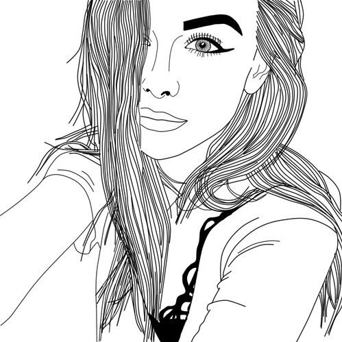 tumblr girl coloring pages photography hipster indie grunge tumblr outline coloring girl tumblr pages