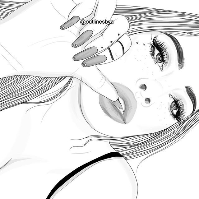 tumblr girl coloring pages pin on outlines tumblr coloring girl pages