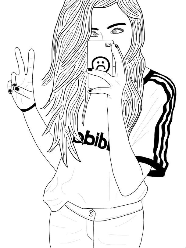 tumblr girl coloring pages pin on tumblr girl drawings coloring girl tumblr pages