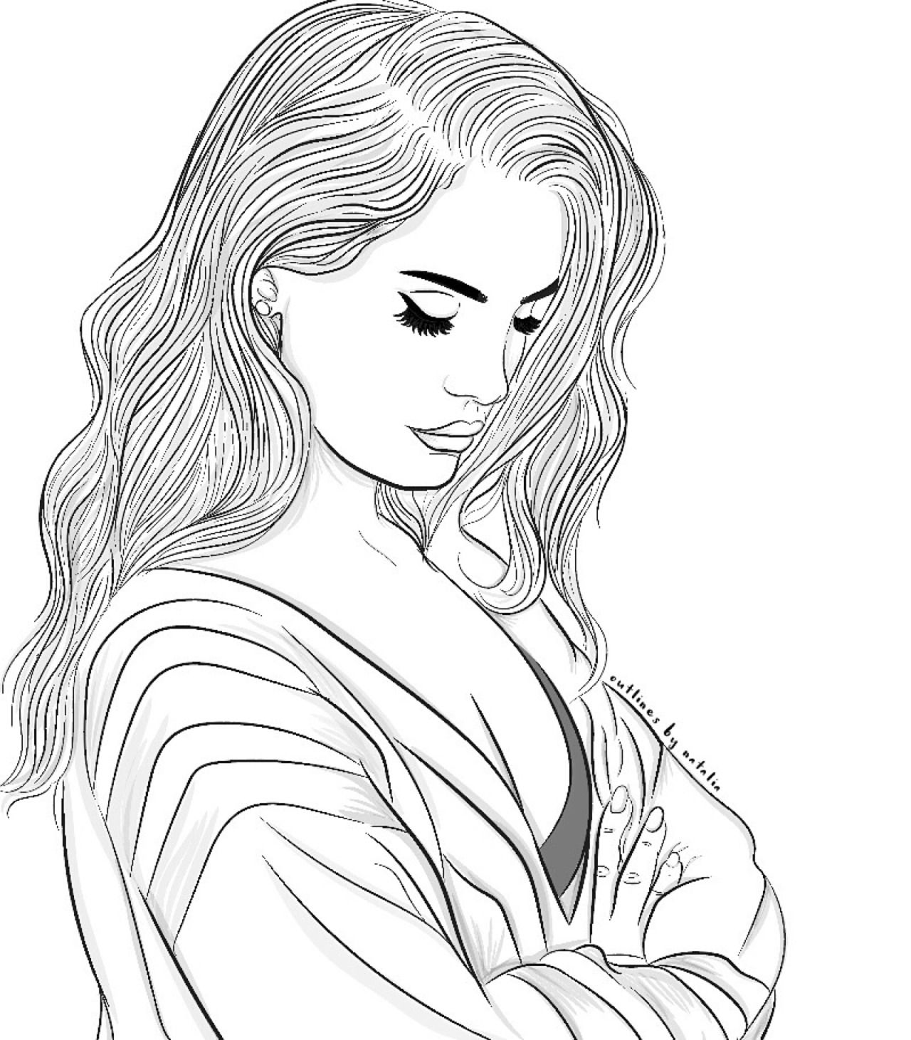tumblr girl coloring pages pin op tumblr girls blackwhite tumblr coloring girl pages